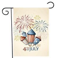 4 Temmuz Bahçe Bayrağı Bağımsızlık Günü ABD Amerikan Yurtsever Anıt Bahçe Bayrakları Ev Dekorasyonu için EEB5704