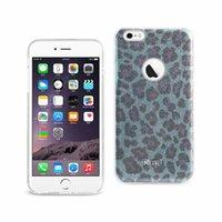 Reiko iPhone 6 Plus / 6S Plus Brillo Brillo Shimmer Leopard Case Hybrid en plata / azul / gris / de oro