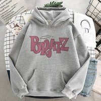 Factory Outlet Luxury Hoodie New Bratz Sweatshirt Womens undefined White Top Hooded Long Sleeve Print Graphic hoodie Women clothes