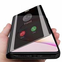 Stand Smart Mirror Stand Cas de téléphone pour Samsung Galaxy S20 Plus S10 Note 10 Lite S10E Coque Cover sur Sumsung S20Plus Note10 Coque10