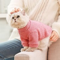 Dog Apparel 2021 Pet Sweater Clothes For Dogs Cat Christmas Sweaters Wool Coats Puppies Winter Clothing