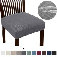 Chair Covers 1 2 4 6 Pcs Waterproof Stretch Cover Spandex Elastic Seat For Dining Room Chairs Home Simple