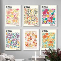 Paintings Colorful Flower Market Plants Wall Art Canvas Painting Nordic Posters And Prints Abstract Pictures For Living Room Home Decor