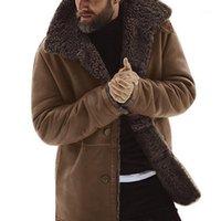Männchen Jacken 2021 Wintermäntel Männer Warme Tops Männliche Kleidung Casaul Fleece Seiled Dicke Top Woolen Mantel Wollmischung Plus Größe1