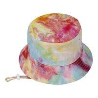 2021 طفل قبعة الاطفال sunhat حماية قبعات الطفل الاطفال واسعة بريم في الهواء الطلق شاطئ حوض القطن التعادل صبغ طفل رضيع فتاة الصيف قبعة الشمس
