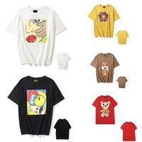Homens camisetas Justin Bieber Smiley Rosto Impressão dos desenhos animados pequenos dinossauro homens casuais e mulheres casal solto redondo pescoço de manga curta 0101