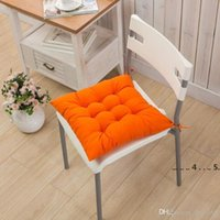 Seat Cushion Non-slip Soft Comfort Seat Mat Seat Pad Patio Solid Color Garden Square Indoor Dining Tie On Office Chair Cushion EWE5021