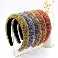 الباروك الإسفنج مبطن عقال متعدد الألوان بريق حجر الراين مجوهرات هوب الشعر