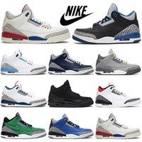 Air Jordan 3 3s Zapatillas de baloncesto Men University Blue Cactus Jack ¿Qué es lo más nuevo para las zapatillas de deporte deportivas al aire libre para mujer para mujer