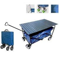 مخيم الأثاث للطي عربة نقل العجلات عربة التسوق حديقة في الهواء الطلق شاطئ دراجة مقطورة طوي اليد عربة شاحنة مع سطح المكتب