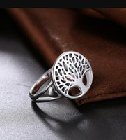 Tree of Life Classic Accessories 925 Sterling Silver Rings For Women New Mothers Day Gifts ps1056
