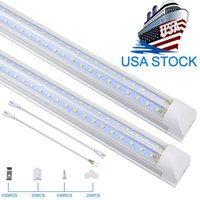 T8 Integrated Double Row Led Tube 2ft 4ft 8ft 72W 100W SMD2835 Tubi a LED LED Light Lighting fluorescente Migliore qualità