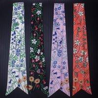 Bufandas La corbata delgada envuelve la bolsa de la bolsa de seda pequeña decoración de cinta con damas