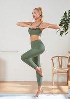 Abiti da yoga vestito senza cuciture vestito da donna vestiti da palestra Abbigliamento da palestra Set Sexy Sexy Sling Bra Leggings Asciugami Abbigliamento Abbigliamento