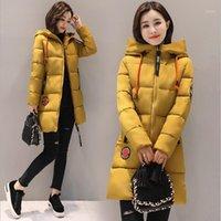 여성 다운 파카 Lanlojer 여성 겨울 재킷 후드 따뜻한 두꺼운 코튼 패딩 파카 코트 여성용 outwear feminina inverno1