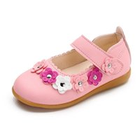 Flat Shoes Spring Autumn Children's With Soft Soles Flower Leisure Leather Baby Girls Dance Wedding Party Princess