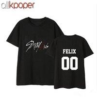 Allkpoper KPOP Straykids T-shirt La lettera Hyunjin Tee Changbin Tshirt Seungmin Tops 210302