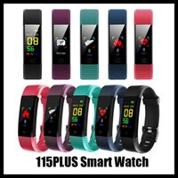 115 PLUS Deporte Fitness Smart Muñequera Fitness Tracker Watch Health Cardy Rate Band Band Smart Pulsera para hombres Mujeres Roid Celulares con caja