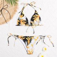 ملابس السباحة ملابس السباحة بيكيني المرأة مثير بيكيني مجموعة رفع منخفضة الخصر الاستحمام الدعاوى شاطئ ارتداء 2020 بدلة سباحة جديدة للنساء 2haosahih