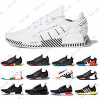 Dazzle camo nmd r1 v2 رجل الاحذية الأساسية الأسود الأبيض مكسيكو سيتي oreo og الكلاسيكية أكوا نغمات الرجال النساء في الهواء الطلق الرياضة أحذية رياضية مع هدية