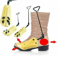 Önyükleme Sedye Raf Ahşap Ayakkabı Ağacı Shaper Bayan Erkek Ayakkabı Ayarlanabilir Flats Pompalar Esnek Araçlar Genişletici Destek Depolama Tutucu S / M / L