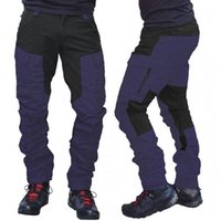 2020 Autumn And Winter Casual Mens Fashion Color Block Multi Pockets Sports Long Cargo Pants Work Trousers for Men Clothing