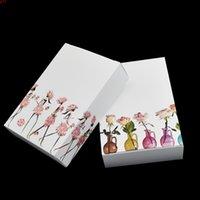 25 pçs / lote Dobrável branco kraft papel caixa de embalagem de pele máscara sacada caixas de pacote caixas de comida boxeshop Quatity