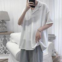 Yeni Moda 2021 Primavera Vero Manga Curta Camisas Soltas Para Roupas Masculinas Simples Estilo Pulver Rahat Masculina Artı Boyutu 4nze