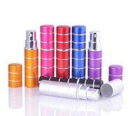 7 cores 10ml 10cc 5cc 5ml mini linha colorida pulverizador de viagens frascos de perfume recarregável Atomizador vazio