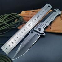 Bräunung taktisches Klappmesser Survival Hohe Härte Multifunktionale Selbstverteidigung EDC-Werkzeuge Camping Jagd Überleben Taschenmesser HW122