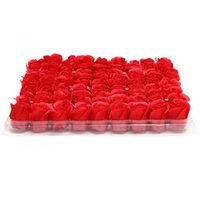 Wholesale 81pcs Box Handmade Rose Soap Artificial Dried Flowers Mothers and Valentines Day Christmas Gift Decoration for Home