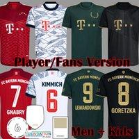 2021 Davies Bayern Limited Wiesn Versão Versão Jogador de Jogador de Futebol Jerseys Sane Lewandowski Kimmich Musia Munchen Muller Gnabry Munique Camisa de Futebol 21 22 Mens Kit Kit