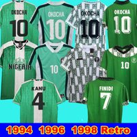 1996 1994 1998 Retro Edition Nigéria Home Away Jersey Okocha 10 Kanu 4 Amokachi 14 Finidi Nigéria Retro Camisa de Futebol