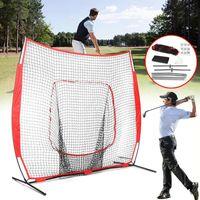 Golf Training Aids 7x7FT Foldable Practice Hitting Net Indoor Outdoor Garden Grassland Practicing Tent Target Cage