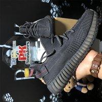 Высочайшее качество мужчин женщин Kanye сетки кроссовки жемчуга задний фонарь шланг 3M статический черный светоотражающий Zebra мужские женские мода на открытом воздухе спортивные кроссовки с коробкой