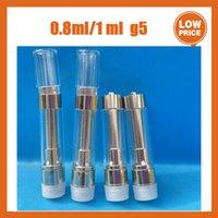 Top Quality G5 Dank Vapes Atomizer empty pen cartridge 510 Thread ceramic coil dab carts vaporizer Vape electronic Cigarette Cartridges