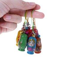 Клазочные буквы милые русские гнездовые куклы матрешка кукла кукла цепь телефон вешалки подарочная сумка 24бе