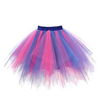스커트 여름 womens 레이스 짧은 치마 pleated 거즈 색상 고품질 성인 투투 춤 # 8