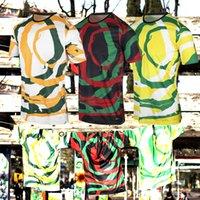 Ligue 1-Marselha 2021-22 The New'Om África 'Jerseys Três diferentes cores atraentes de futebol camisola de alta qualidade