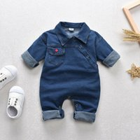 Jumpsuits 0-4 Years Toddler Kids Baby Girls Boys Clothes Denim Jumpsuit Romper Long Sleeve Playsuits Outfits