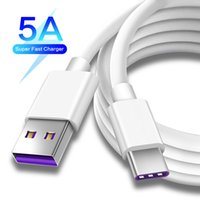 USB Type C Cable 5A Super Fast Charging Cables Cord 0.25M 1M 1.5M 2M High Quality for Samsung A21 S20 FE Huawei Xiaomi Redmi Note 9 Pro