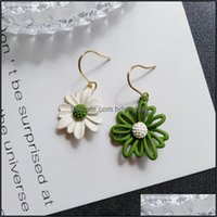 Dangle Jewelrydangle & Chandelier Small Daisies Asymmetric Earrings For Women Girls Summer Style Flower Personality Jewelry Drop Delivery 20