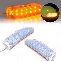 Luzes de emergência 2pcs 13/9 LED automático carro retrovisor porta porta sinais lâmpada de segurança