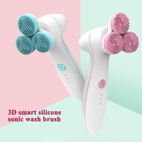 2020 Silicone Facial Cleansing Brush Blackhead Removal Acne Pore Cleanser Machine Peeling Face Washing Brush Device With Base
