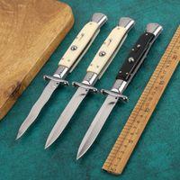 9-дюймовый черный EDC итальянский стиль опекуны священный складной нож автоматический нож 440C кемпинг из нержавеющей стали
