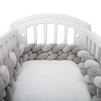 Bedding Sets 2M Baby Bumper Bed Braid Knot Pillow Cushion Solid Color For Infant Crib Protector Cot Room Decor Drop Ship