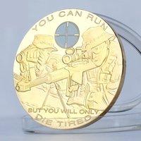 Artigianato militare militare degli Stati Uniti Puoi correre ma morirai solo stanco USA Sniper Soldier Challenge monete Coin Coin