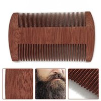 Natural Sandalwood Double Sided Beard Brush Party Favor Portable Wood Close Tooth Comb Household Hair Combs
