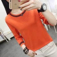 Striped Loose Ladies Sweater Pullover 2020 Autumn Winter New Arrival Jumpers Knit Sweaters GRAY22