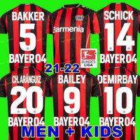 21 22 Leverkusen Fútbol Jersey 2021 2022 Bayer 04 Demirbay Wirtz Camisa de Fútbol Inicio Ch Aranguiz Paulo Schick Fútbol Camisetas Hombres Bailey Bakker